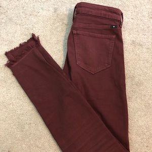 Lucky brand burgundy skinny jeans